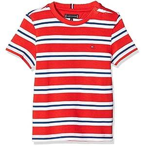 Tommy Hilfiger Stripy Crew Neck S/S Camiseta para Bebés 13