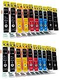 20 kompatible Druckerpatronen zu CANON CLI-8 / PGI-5BK mit CHIP und Füllstandsanzeige | geeignet für Canon PIXMA MP 500 510 520 530 600 600R 610 800 800R 810 830 960 970 / MX 700 850 / IP 4200 5200