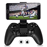 MYGT C01 Bluetooth Mobile Gamepad Controller for Android and iOS devices with in-built Holder and Rechargeable Battery (Black)