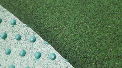 Kunstrasen (4,50€/m²), Rasenteppich mit Drainage-Noppen, Festmaß 180 x 400 cm, grün