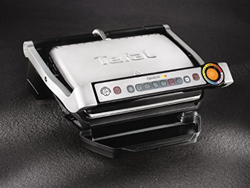 Tefal GC702D Optigrill, Standard-Modell, 2000 W, automatische Anzeige des Garzustandes, 6 voreingestellte Grillprogramme, Edelstahl schwarz/silber - 4