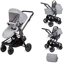 Nurse City 3 Piezas - Sistema modular de silla de paseo y capazo, color soft perla mix