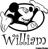 Mickey Maus mit Ihrem gewählten Namen 60cm x 60cm Farbe wählen 18Farben auf Lager Kinder Disney, jeder Name, personalisierbar, Name, Schlafzimmer, Kinder Zimmer Aufkleber, Auto Vinyl-, Windows und Wandtattoo, Wall Windows Art, Decals, Ornament Vinyl Sticker ThatVinylPlace