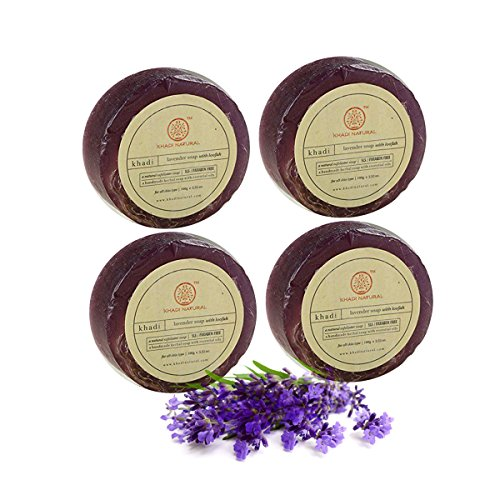 Khadi Lavender Loofah Soap 100g Each (Set of 4)  available at amazon for Rs.479