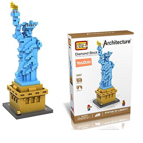 YouCute Loz Micro Blocks,statue of liberty, Small Building Block Set, Nanoblock Compatible (820 pcs)