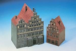 Maquette en carton : Maison et immeuble à Lunebourg, Allemagne