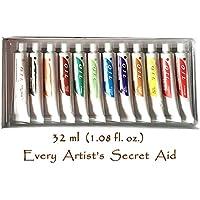Daveliou-Set per pittura ad olio, 12 colori a olio, Non tossica, 32 ml, colori assortiti - Tubo Bene Seal