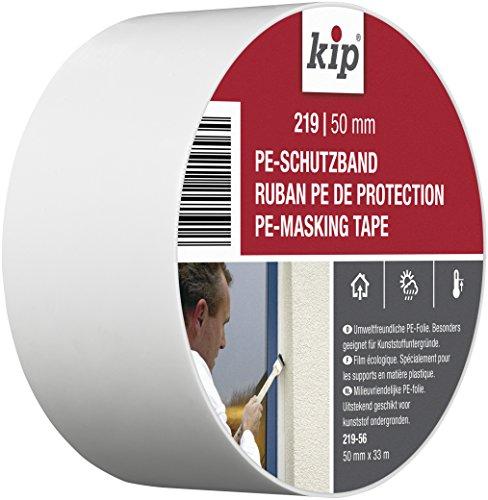 Kip 219-56 PE-Schutzband Abkleben auf Kunstoff Fenstern und Türen, 50 mm x 33 m, Weiß