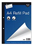 Just Stationery 100 Sheet A4 Plain Refill Pad