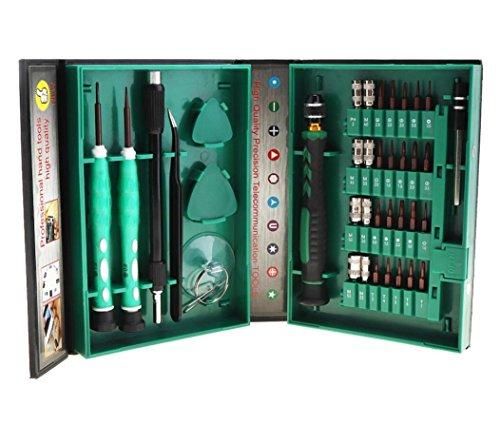 HYCy 38 en 1 Precision Tournevis Set Outils De Réparation Kit S2 Alliage Acier Torx Phillips pour Lunettes Téléphone Portable Iphone Portable