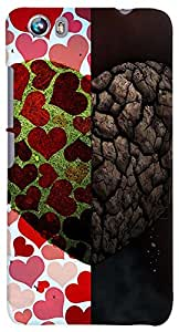 PrintVisa Love Heart Sort Hard Case Cover for Micromax Canvas Fire 4 A107