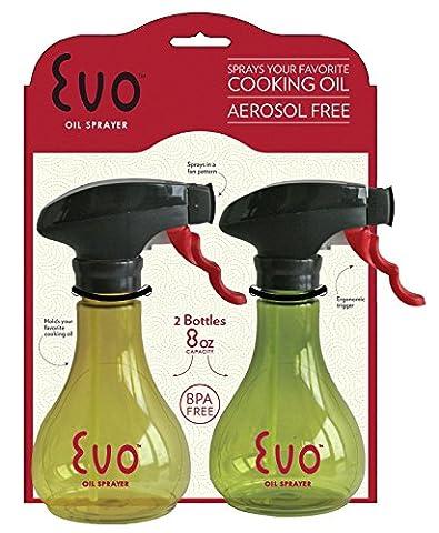 Harold Evo Kitchen Grill Olive Cooking Oil Trigger Sprayer 8oz Bottle - Set Of 2