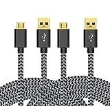 Micro USB Kabel Nylon, BeneStellar (2 Pack 1,8m) High Speed