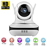 Wlan ip Kamera, Ollivan HD 720p Wireless sicherheitskamera Wolkenlagerung mit zwei-Wege Sprachkommunikation, 360 � Ansicht,Infrarot nachtsicht Bild