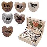 Herzförmiger Stein mit Spruch