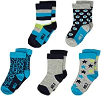 Mala Boy's 3972 with Diff Pattern 5-Pack Ankle Socks, Multicoloured, 0-3 Months (Manufacturer Size:15\18)