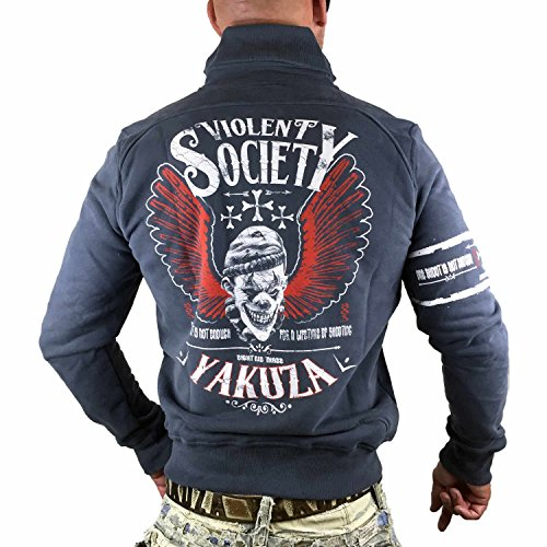Yakuza Homme Vestes & Blousons / Veste demi-saison Violent Society Bleu
