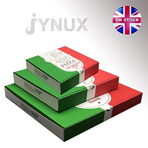 Bedruckte Pizza-Schachteln zum Mitnehmen, italienisches Design, Größen: 17,8/22,9/30,5/38/45,7/50,8 cm, 10 Stück, 30,5 cm