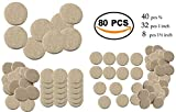 80Pcs Self Sticking Round Felt Pads Non Skid Floor Protector Furniture Pad Noise Insulation Pad Floor Bumper, Beige