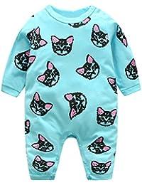 Domybest Pijama Monos de vestir para Recién nacido Bebé Niñas Niños Gato ...