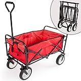 TecTake Chariot de transport de jardin pliant Charrette à bras Voiture de transport Poussette pliable