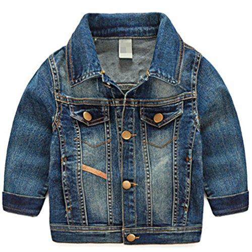 cke baby jungen jeansjacke Frühlung Herbst kleinkinder Mantel Freizeit Übergangsjacke Trenchcoat 110 (Jungen Trenchcoats)
