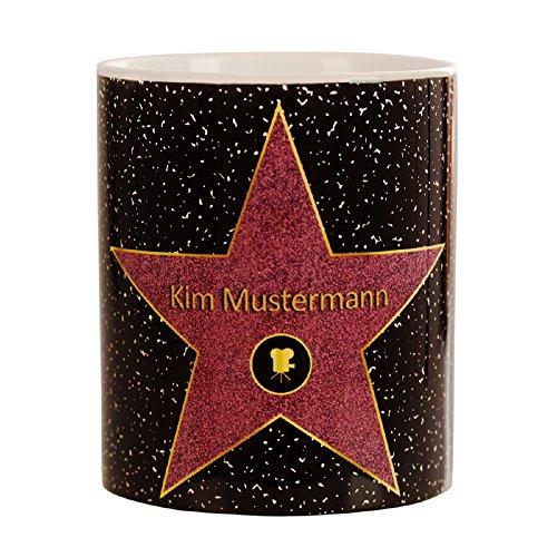 Walk of fame - personalisierte Tasse - Star of fame - Kaffeebecher mit Personalisierung - Becher für Hollywood Stars - persönliche Kaffeetasse mit Name - Becher für Tee und Kaffee mit Wunschname