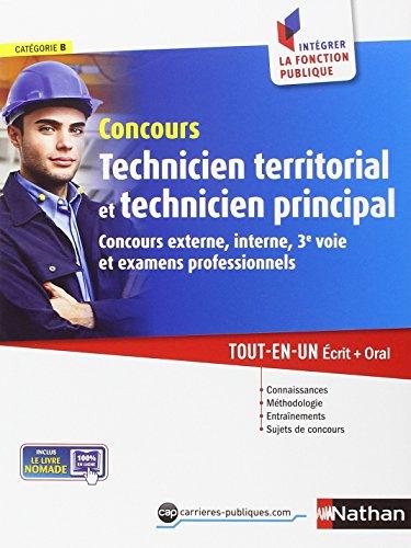 Concours technicien territorial et technicien principal