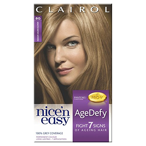 Clairol Nice'n Easy AgeDefy Permanent Colour 8G Medium Golden Blonde (1kit) (Clairol Medium Blonde)