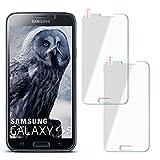 moex 2X 9H Panzerfolie für Samsung Galaxy S5 | Panzerglas Display Glasfolie [Tempered Glass] Screen Protector Glas Displayschutz-Folie für Samsung Galaxy S5 / S5 Neo Schutzfolie