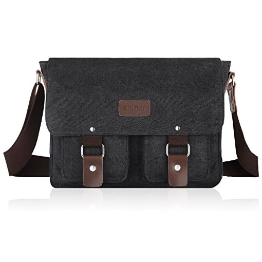 SMRITI 14-Inch Canvas Messenger Bag Laptop Satchel for School