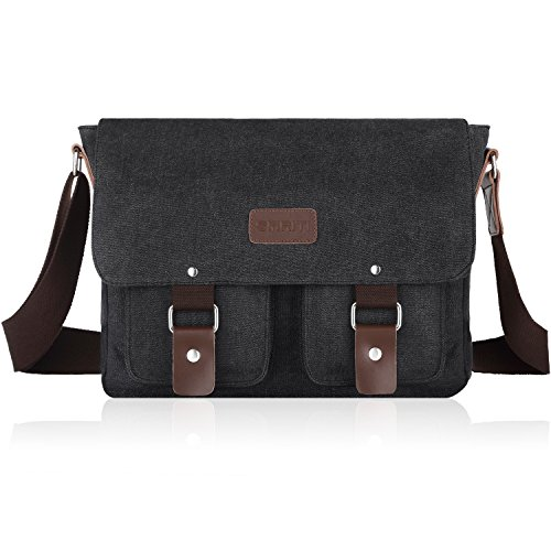 - 51K9fAZi3oL - SMRITI 14-Inch Canvas Messenger Bag Laptop Satchel for School  - 51K9fAZi3oL - Deal Bags
