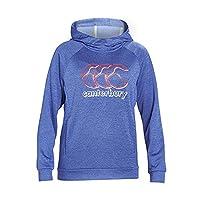 Canterbury Girls' Fleece Over the Head Hoodie, Dazzling Blue Marl, 10 Years