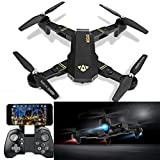 VISUO XS809HW WIFI FPV Quadcopter 2.4G Foldable Arm Mini Selfie Drone with 2 MP Camera ,3 Battery ,Headless Mode and One-key Return