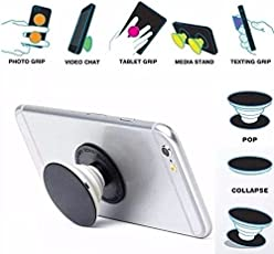 Skycandle Premium Stylish Printed Designer Pop Holder for your Phone & Tablet with Car Mount | Mobile Stand | Phone Grip | Mobile Holder | Phone Mounts | Popholder | Reusable Adhessive | Perfect Grip | Durable | Slim Light Weight. (Pack of 2)