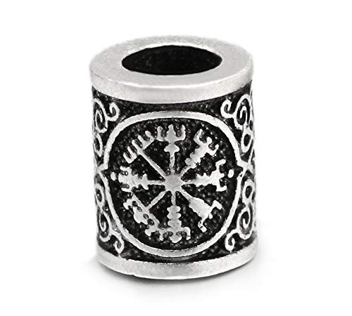 5 pièces 1.7 cm Grande Viking Viking Compass Middle Aged Cheveux et Barbe Barbe...