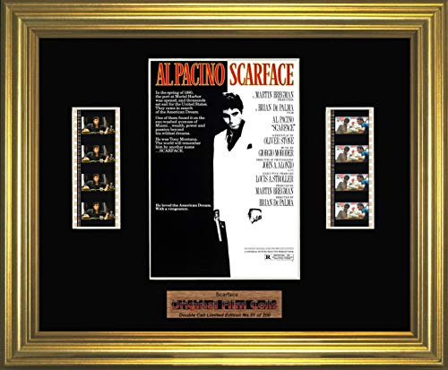 Scarface FCD Gerahmtes Stück Originalfilm Heat - Scarface Movie Memorabilia