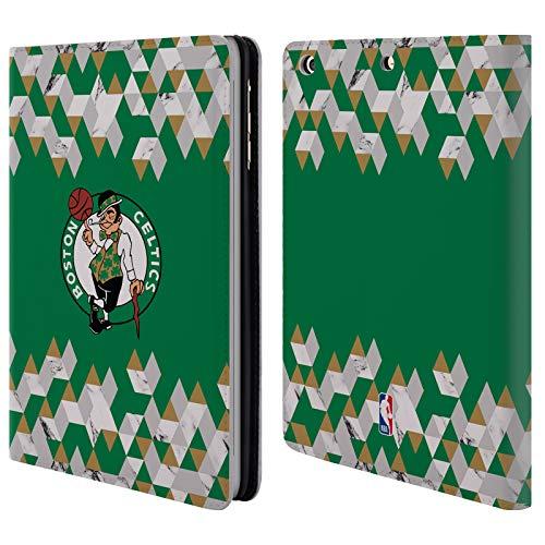 Head Case Designs Offizielle NBA Marmor Geometrisch 2018/19 Boston Celtics Brieftasche Handyhülle aus Leder für iPad Mini 1 / Mini 2 / Mini 3 Boston Celtics Mini