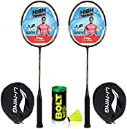 Li-Ning Eco-Value Badminton Combo (2 Racquets with 1 Shuttlecock)