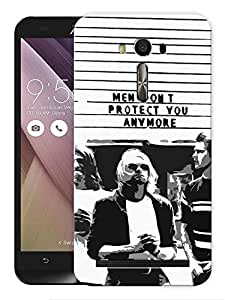 """Humor Gang Kurt Cobain Men Don'T Protect You Anymore Printed Designer Mobile Back Cover For """"Asus Zenfone 2"""" (3D, Matte Finish, Premium Quality, Protective Snap On Slim Hard Phone Case, Multi Color)"""