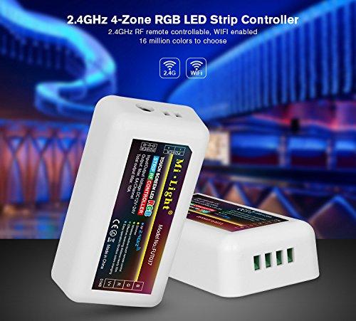 Preisvergleich Produktbild LIGHTEU,2.4G Wireless WiFi Control Module LED RGB-Streifen-Controller WLAN RGB