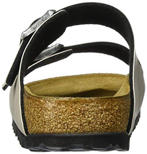 Birkenstock Arizona Birko-Flor, Ciabatte Unisex – Adulto Beige (Pull Up Stone)