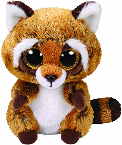 Beanie Boo Racoon -Rusty - Brown - 15cm 6""