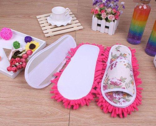 Spolverare pantofole,Amlaiworld Donna Pantofole in microfibra Camera da letto scarpe Rosa caldo
