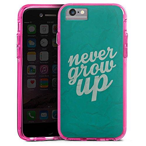 Apple iPhone 6 Bumper Hülle Bumper Case Glitzer Hülle Sayings Sprüche Phrases Bumper Case transparent pink