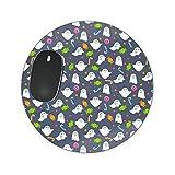 Ghosts mit Candy Mousepad–Neopren für optische und Laser Maus–Rechteck Rund Herzform, grau, Round Mousepad