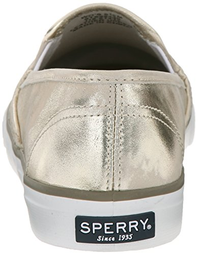 Sperry Top-Sider Seaside Metallic, Baskets Basses Femme or - blanc
