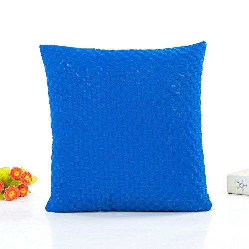 FeiliandaJJ Kissenbezug Volltonfarbe Einfachheit, kissenhülle Kopfkissenbezug Pillowcase Super weich Sofakissen für Wohnzimmer Sofa Bed Home Dekoration,45x45cm (Blau)