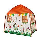 SODIAL Kinderzelt Für Drinnen Und Drau?en, Faltbares Zelt Für M?dchen Und Jungen Mit Weicher Teppich Aprikose