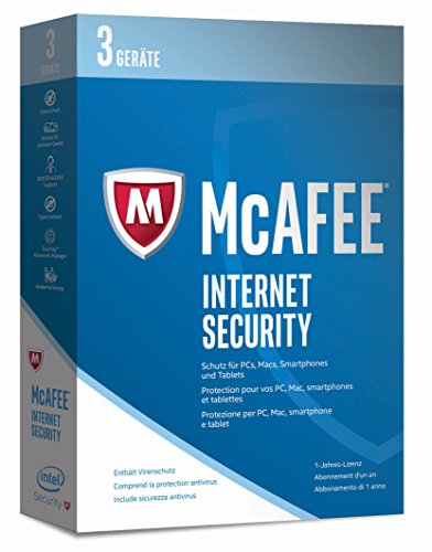 McAfee Internet Security 2017 | 3 Geräte | 1 Jahr | PC/Mac/Smartphone/Tablet | Download